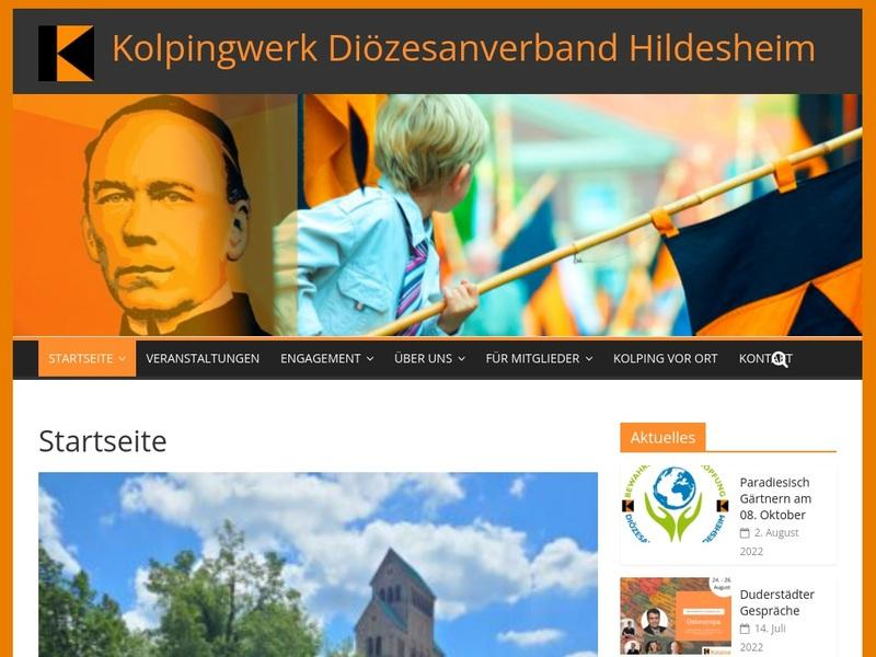 Screenshot von www.kolping-hildesheim.de